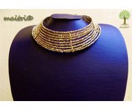 Contemporary Golden Filler Necklace 1EAJ7