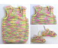 0 - 3 Month Handmade Baby Woolen Sweater Set BS00