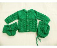 0 - 3 Months -  Handmade Baby Woolen Sweater Set BS001