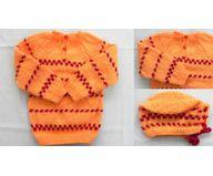 6 Months -  Handmade Baby Woolen Sweater Set BS17