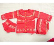 6 Months -  Handmade Baby Woolen Sweater Set BS180
