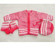 6 Months -  Handmade Baby Woolen Sweater Set BS18b