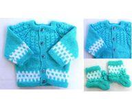 0 - 3 Month Handmade Baby Woolen Sweater Set BW01 - 0 months
