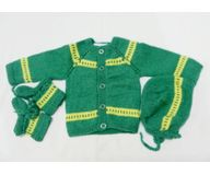 0 - 3 Months - Handmade Baby Woolen Sweater Set BW03