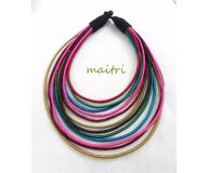 Multicolor Silk necklace ETJ48