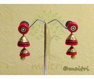 Terracotta Jewelry - Terracotta Earring TEAD100f