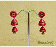 Terracotta Jewelry - Terracotta Earring TEAD101a