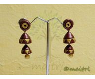 Terracotta Jewelry - Terracotta Earring TEAD101b