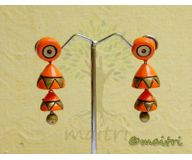 Terracotta Jewelry - Terracotta Earring TEAD101d