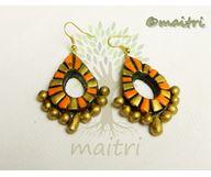0Terracotta Earrings - Danglers  TEBD301e