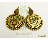 Terracotta Earring - Stud Dangler-Exclusive TEC400a