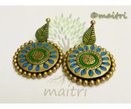 Terracotta Earring - Stud Dangler-Exclusive TEC405a