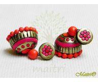 Terracotta Earring - Designer Jhumka TEC415