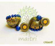 Terracotta Earring - Designer Jhumka  TEC416b