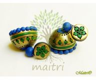 Terracotta Earring - Designer Jhumka  TEC423b