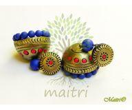 Terracotta Earring - Designer Jhumka  TEC425b
