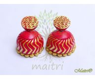 0Terracotta Earring - Terracotta Jhumka TED413