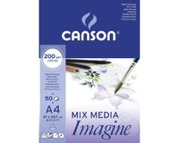 Canson Imagine 200 GSM A4 Pad of 50 Light Grain Sheets