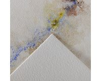 Canson Montval 24x32cm Natural White Cold Pressed 300 GSM WaterColour Paper, Long Side Glued (Pad of 100 Sheets)