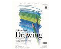 Strathmore 200 Series Drawing 5.5''x8.5'' White Fine Tooth 104 GSM Paper, Short-Side Tape Bound Pad of 40 Sheets