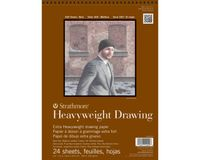 Strathmore 400 Series Heavyweight Drawing 9''x12'' Cream Fine Grain 163 GSM Paper, Short-Side Micro-perforated Album of 24 Sheets