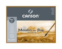 Canson Moulin du Roy 300 GSM 23 x 30.5 cm 4 Side Glued Pad of 20 Rough Grain Sheets