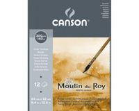 Canson Moulin du Roy 300 GSM 24 x 32.5 cm Pad of 12 Rough Grain Sheets