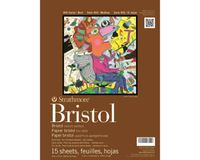 Strathmore 400 Series Bristol 14''x17'' Extra White Vellum 270 GSM Paper, Long-Side Tape Bound Pad of 15 Sheets