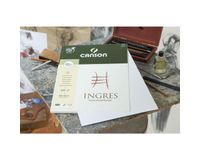 Canson Ingres Vidalon 100 GSM A3 Pack of 5 Laid Texture Sheets - Sky Grey