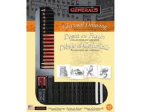 General's Charcoal Drawing Artist Collection - Art Set of 32 Pieces