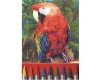 Koh-I-Noor Progresso Woodless Artist's Water Soluble Coloured Pencils - Set of 12 Assorted Colours in Tin Box