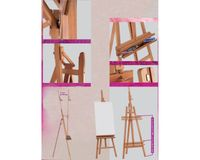 MABEF Beech Wood Inclinable Lyre Easel - A Frame