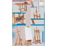 MABEF Beech Wood Convertible Studio Easel - H Frame - with Tray