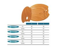 MABEF Oval Wooden Palette - 35 x 45 cm
