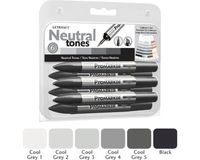 Letraset ProMarkers Set of 6 Neutral Tones