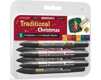 Letraset ProMarkers Set of 6 Traditional Xmas