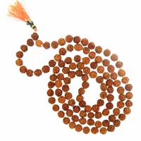 5 Mukhi RUDRAKSHA JAAP MALA FOR POOJA (ASTROLOGY) (108+1 Beads) 100% Original & Certified By  ARIHANT GEMS & JEWELS
