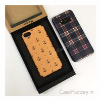 Anchor Ochre/Formal Chekcs phone case