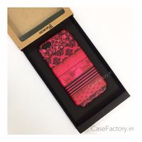 Black floral pattern Phone Case