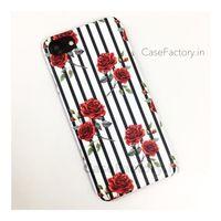 Red Roses vertical Stripe Phone Case