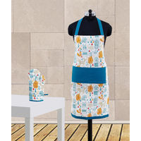 Multi Printed Apron Set (Pack of 2 Pc) by Dekor World