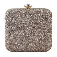 Gold sheen clutch bag