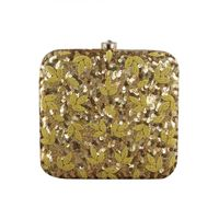 Chatak Matak gold box clutch