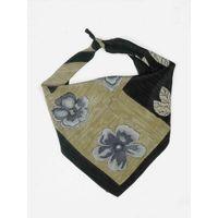 Tiekart men grey floral silk scarf