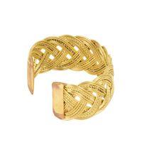 Tiekart women golden spiral  bracelet cuff