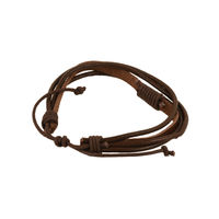 Tiekart men brown bracelet cuff