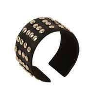 Tiekart men black bracelet cuff