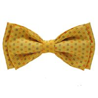 Tiekart men brown floral knotted double bow tie