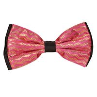 Tiekart men pink knotted double bow tie