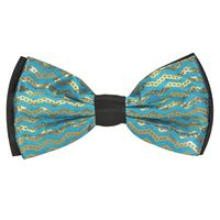 Tiekart men blue knotted double bow tie